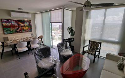 Moderno apartamento amueblado Condominio Altea. Colonia Escalón. 2 habitaciones.